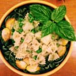 pasta pesto peas and potatoes