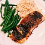 salmon with a sweet and spicy rub