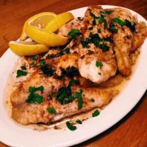 sautéed fish with lemon brown butter