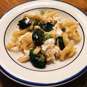 oven roasted broccoli and pasta