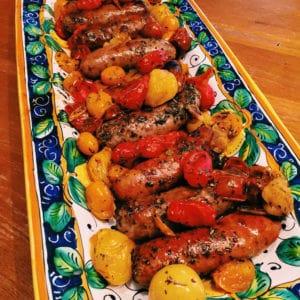 cherry-tomato-and-sausage-bake