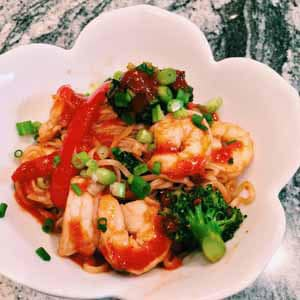 garlic shrimp ramen