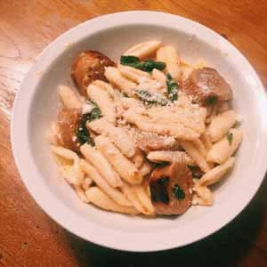 cavatelli with hot sausage sage and brown butter