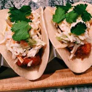 crispy BBQ chicken tacos
