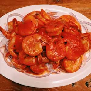 shrimp in buttery hot sauce