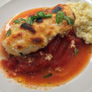 baked chicken with parmesan and tomatoes