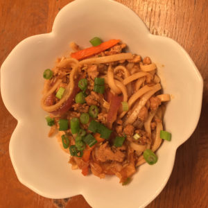 szechuan noodles with sesame chili oil